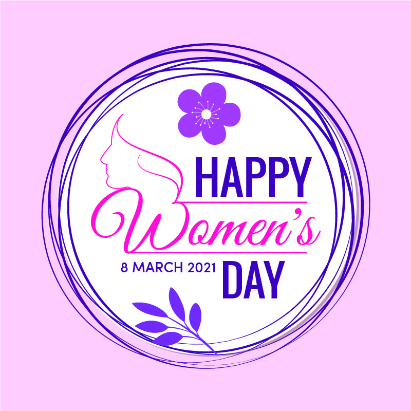 Happy Women's Day Celebration Design Free Vector