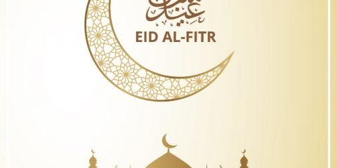 Eid Al-Fitr Greeting Card Design Free Vector Download