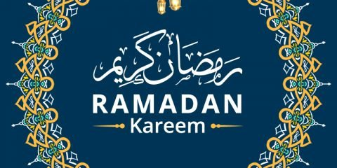 Ramadan Kareem with Mandala Decoration Vector
