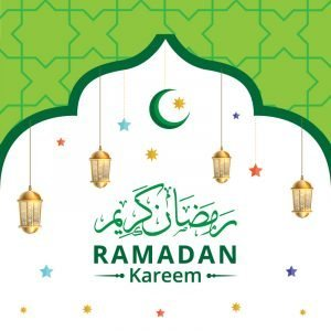 Ramadan Kareem with Stars Vector Design Free Download