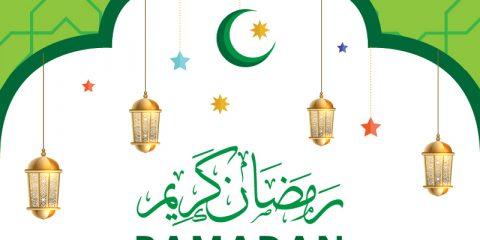 Ramadan Kareem with Stars Vector Design Free Download